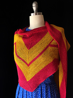 Wonder Woman Wrap (knit) by Carissa Browning