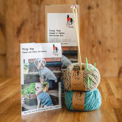 Dog Jumper Knitting Kit - Tiny Toy