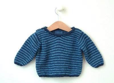 Boys sweater 'multi stripe v'
