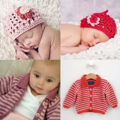 MULTI-BUY OFFER Rose Bundle Offer - 2 baby girl knitting patterns