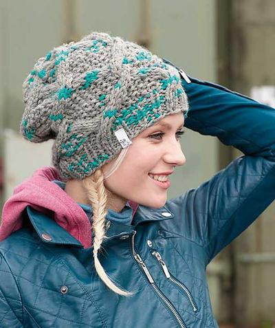 Schachenmayr Cap with Cable Pattern Kit