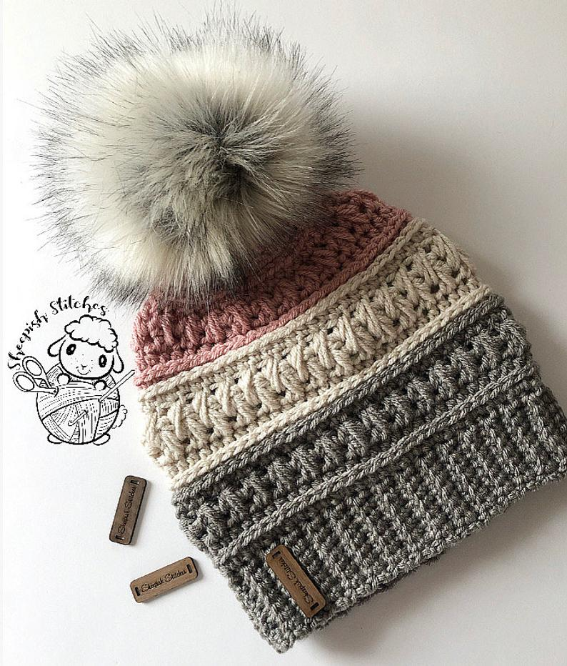 Twisted Canyon Beanie Crochet Pattern