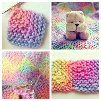 Candy Rainbow Baby Blanket Pattern