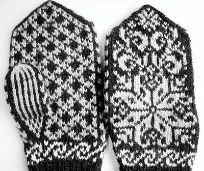Erlends Mittens Pattern - Selbu - Pattern - Knitting Chart - Diagram