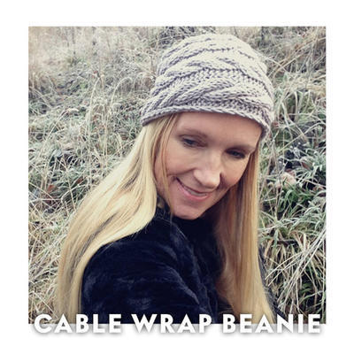 Knitting Pattern - Cable Wrap Beanie
