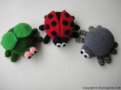 BUGS PURSE - Ladybird, Spider and Fly