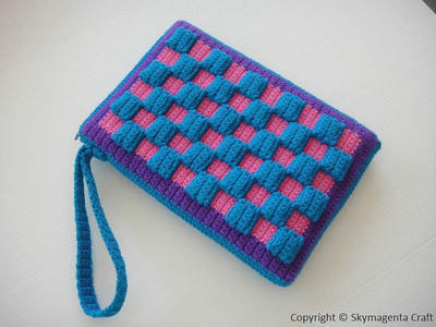 Checkered Kindle Cover / Sleeve / Purse