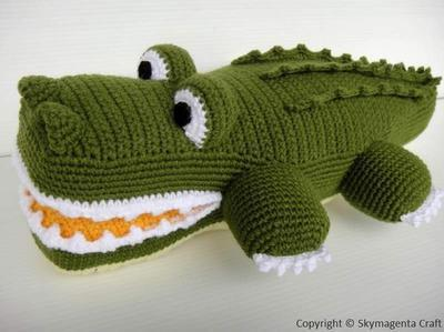 Crochet Pattern - ALLIGATOR