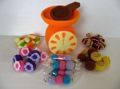 Crochet Pattern - CANDY SELLER- Toys / Playfood