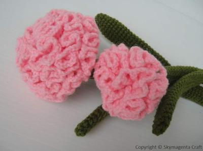 Crochet Pattern - CARNATION flower