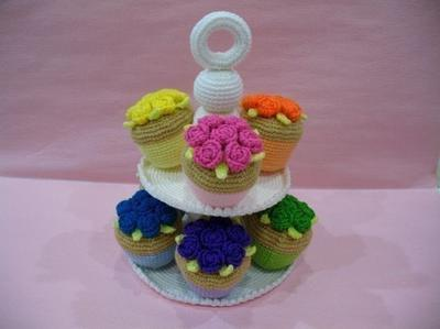 Crochet Pattern - CUPCAKES- Toys / Playfood - PDF