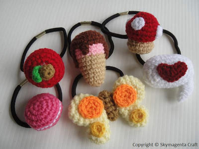 Crochet Pattern - CUTE PONYTAIL TIE