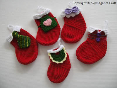 Crochet Pattern - FAMILY CHRISTMAS SOCKS - deco