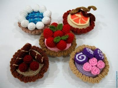 Crochet Pattern-MINI TARTS- playfood