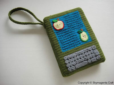 Crochet Pattern - Moss Green Kindle Cover / Sleeve / Purse