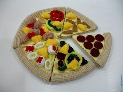 Crochet Pattern- PIZZA