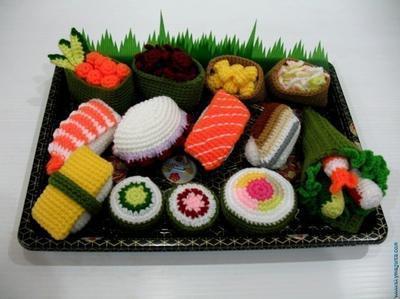Crochet Pattern - SUSHI - play food