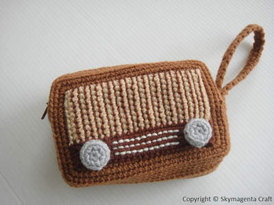 VINTAGE RADIO PURSE - For cell phone / money / others