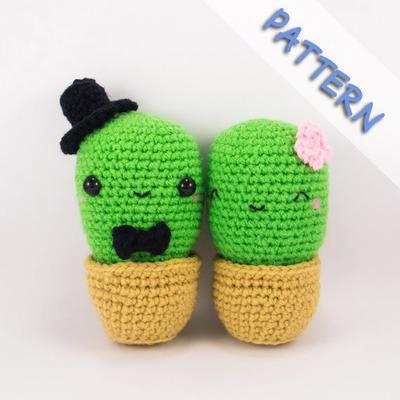 Cactus Couple Amigurumi Crochet Pattern