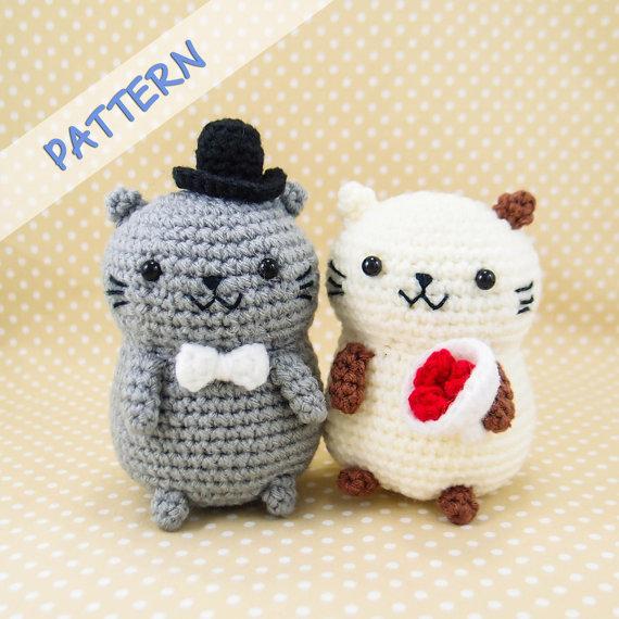 Amigurumi Cat Crochet Pattern : Misterpattern cat couple amigurumi crochet pattern pdf