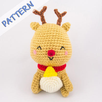 Christmas Amigurumi Crochet Pattern (PDF) - Jingle the Reindeer
