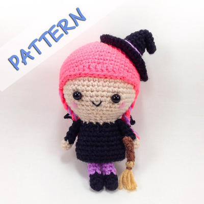 Crochet Amigurumi Pattern (PDF) - Flo the Witch
