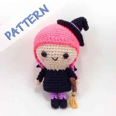 Crochet Amigurumi Pattern (PDF) - Flo the Witch