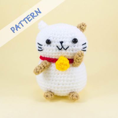 Lucky Cat Crochet Pattern PDF