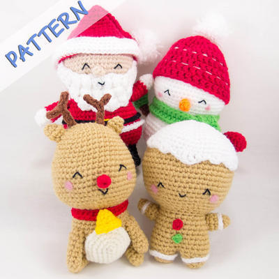 Set of 4 (Snowman, Gingerbread Man, Reindeer, Santa)