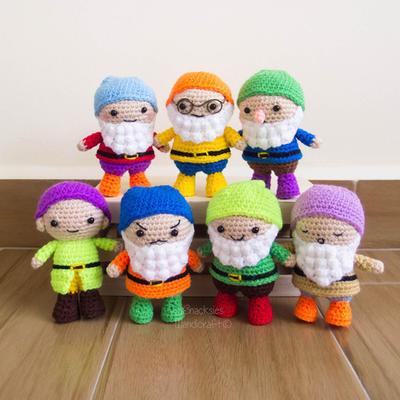 Seven Dwarfs Crochet Amigurumi Pattern