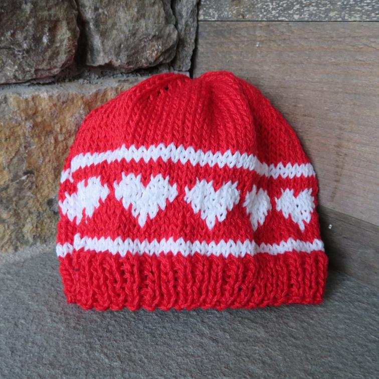Valentine Hearts Ponytail / Messy Bun Hat
