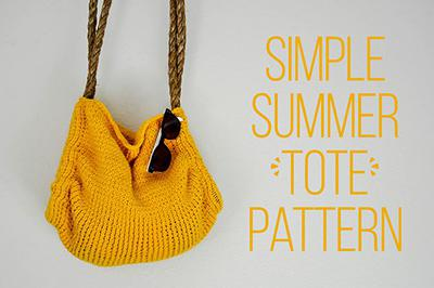 Simple Summer Knit Tote