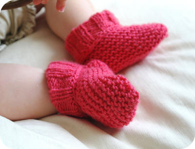 Learn to Knit Kit: Baby Booties - 6 colours luxury merino baby wool