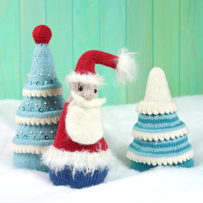 Magical Christmas Forest and Santa knitting pattern