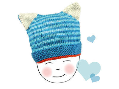 Steffi's COOL CAT HAT baby knitting pattern