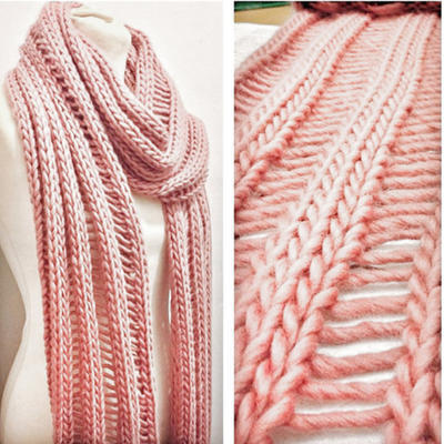 Beginner's Drop Stitch Scarf Knitting Kit