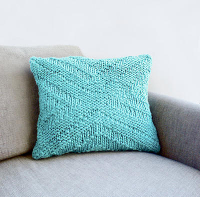 Beginner's Knitting Kit Criss Cross Pillow Cover