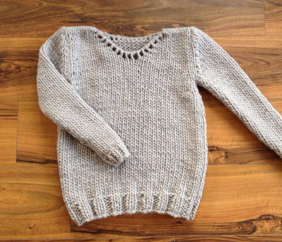 Beginner Sweater Knitting Kit Set Easy