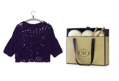 Chunky Lace Sweater Knitting Kit