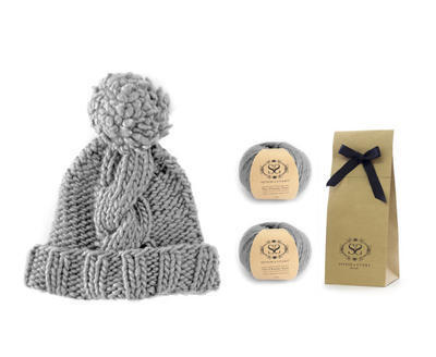 DIY Knitting Kit Giant Cable Stitch Beanie
