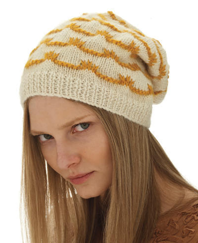 Knitted Slouch Hat Pattern