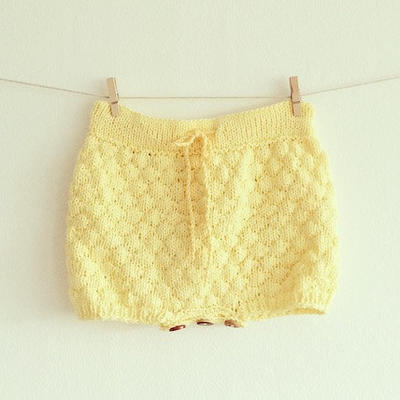 The sailor bubble shorts - Knitting pattern