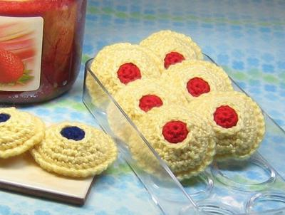 Thumbprint Cookies Crochet Pattern