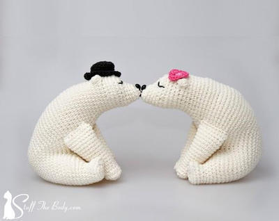 Kissing Bears Amigurumi Pattern