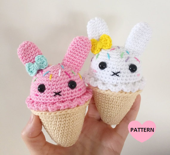 Bunny Ice Cream PDF pattern