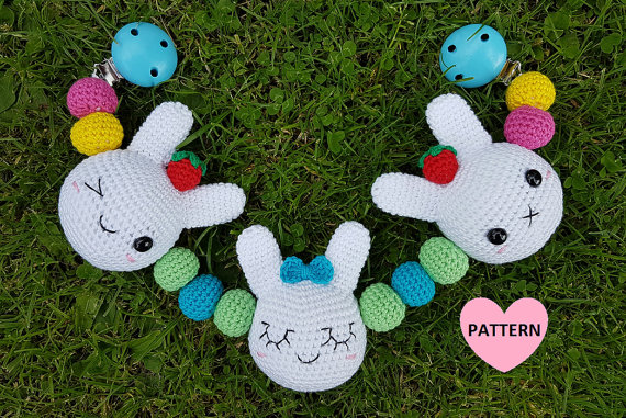 Bunny Mobile Crochet PDF Pattern