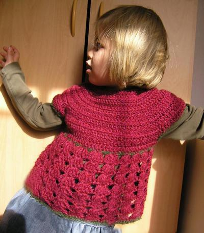 Cute lacy sweater vest for babies and little girls