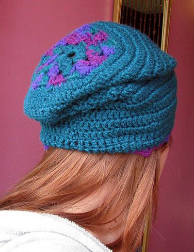 Girouette Slouchy granny square Hat