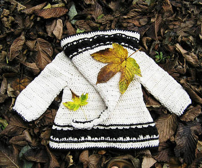 Lutin Marguerite, hooded cardigan in baby and toddler sizes