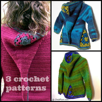Set of 3 PDF crochet pattern